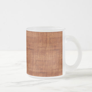 Curly Acacia Wood Grain Look Frosted Glass Coffee Mug