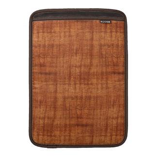 Curly Acacia Wood Grain Look MacBook Sleeves