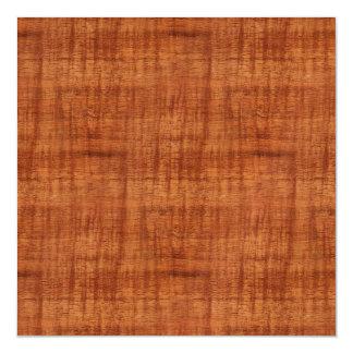 Curly Acacia Wood Grain Look Magnetic Card