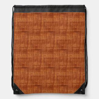 Curly Acacia Wood Grain Look Drawstring Bags