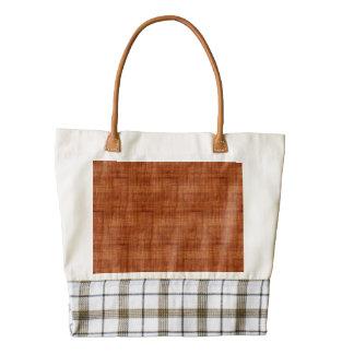 Curly Acacia Wood Grain Look Zazzle HEART Tote Bag
