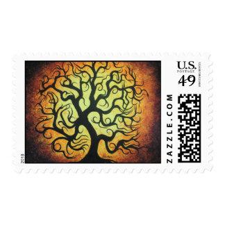 Curly Autumn Tree - Postage