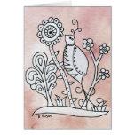 Curly Bird, Mexican Bark Greeting Card