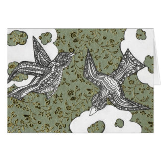 Curly Birds 3 Card