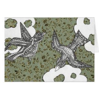 Curly Birds 3 Card