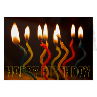 curly candles birthday card