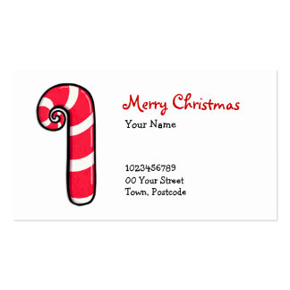 Curly Candy Cane Business Card