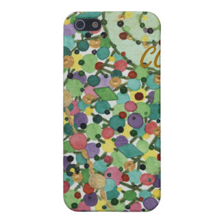 Curly Christmas Confetti iPhone 5C Case