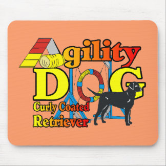 Curly Coated Retriever Agility Gifts Mouse Pad