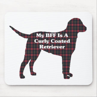 Curly COATED Retriever BFF Mouse Pad