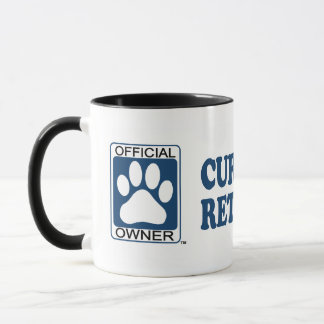 Curly Coated Retriever Blue Mug