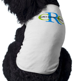 Curly Coated Retriever Breed Monogram Doggie Tee Shirt