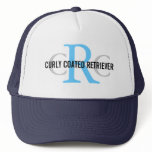 Curly Coated Retriever Breed Monogram Trucker Hat