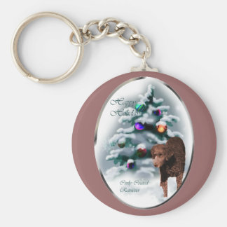 Curly Coated Retriever Christmas Gifts Keychain