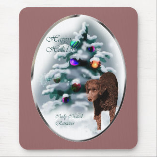 Curly Coated Retriever Christmas Gifts Mouse Pad