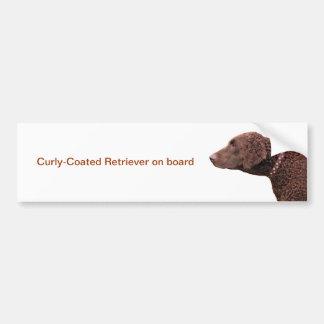 Curly Coated Retriever dog car bumper sticker