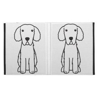 Curly-Coated Retriever Dog Cartoon iPad Folio Covers