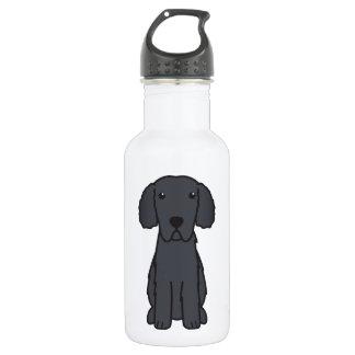 Curly Coated Retriever Dog Cartoon 18oz Water Bottle