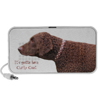 Curly-coated retriever dog doodle speakers gift
