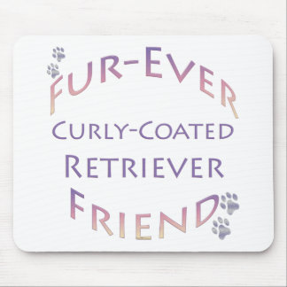 Curly-Coated Retriever Furever Mouse Pad