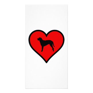 Curly Coated Retriever Heart Love Dogs Card