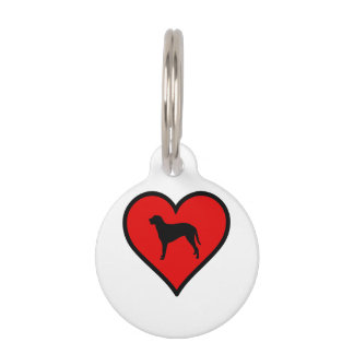 Curly Coated Retriever Heart Love Dogs Pet ID Tag