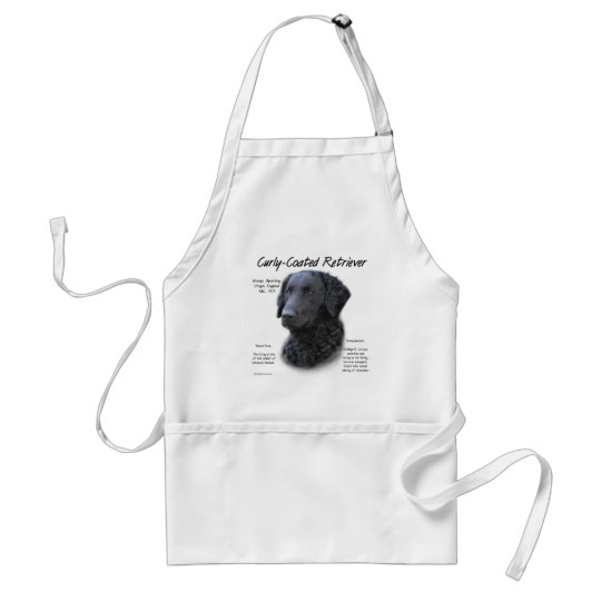 Curly-Coated Retriever History Design Adult Apron