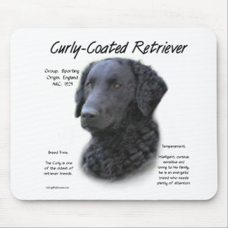 Curly-Coated Retriever History Design Mouse Pad