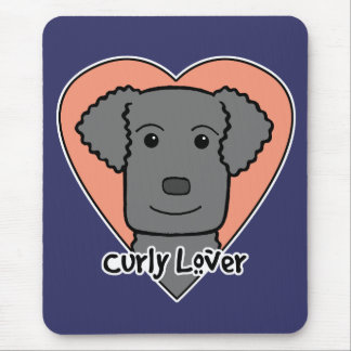 Curly-Coated Retriever Lover Mouse Pad