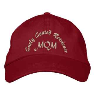 Curly Coated Retriever Mom Gifts. Embroidered Baseball Hat
