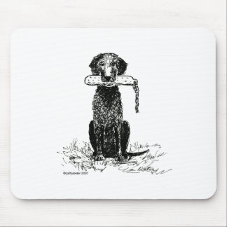 curly coated retriever mouse pad