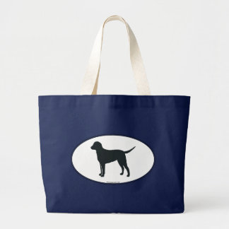 Curly-Coated Retriever Silhouette Canvas Bags
