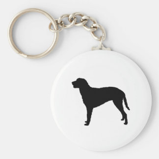 Curly Coated Retriever Silhouette Love Dogs Keychain
