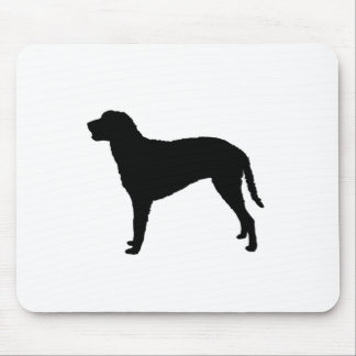 Curly Coated Retriever Silhouette Love Dogs Mouse Pad