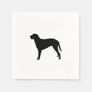 Curly Coated Retriever Silhouette Love Dogs Paper Napkin
