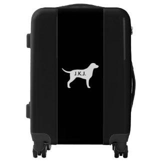 Curly Coated Retriever Silhouette Personalized Luggage