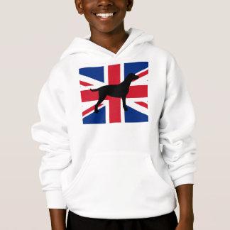 curly coated retriever silhouette United_Kingdom.p Hoodie