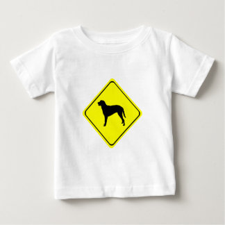 Curly Coated Retriever Warning Sign Love Dogs Baby T-Shirt
