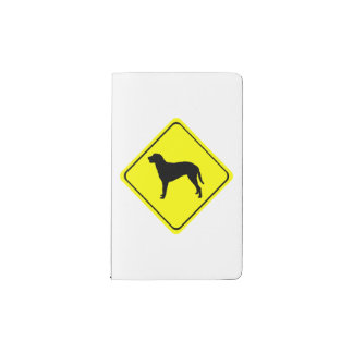 Curly Coated Retriever Warning Sign Love Dogs Pocket Moleskine Notebook