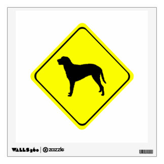 Curly Coated Retriever Warning Sign Love Dogs Wall Sticker