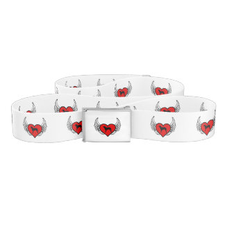 Curly Coated Retriever Winged Heart Love Dogs Belt