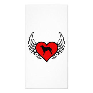 Curly Coated Retriever Winged Heart Love Dogs Card