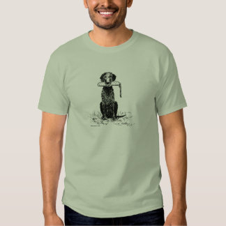 Curly Coated Retriever with Bumper T-shirt