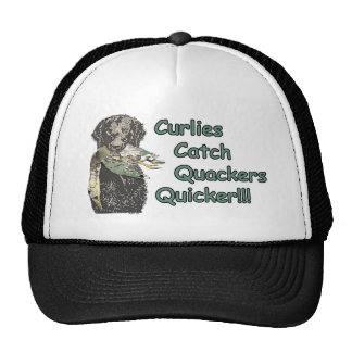 Curly Coated Retrievers Catch Quackers Quicker! Trucker Hat