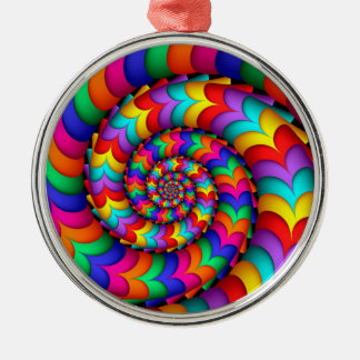 Curly Coil Rainbow Spiral Circle Ornament