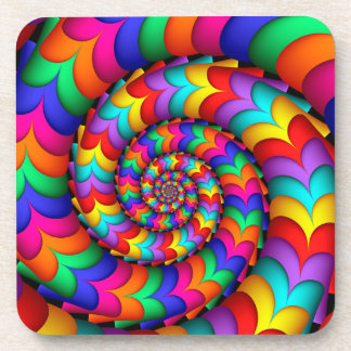 Curly Coil Rainbow Spiral Coasters