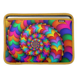 Curly Coil Rainbow Spiral Macbook Air Sleeve