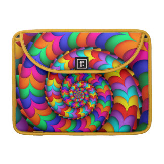 Curly Coil Rainbow Spiral Macbook Pro Sleeve