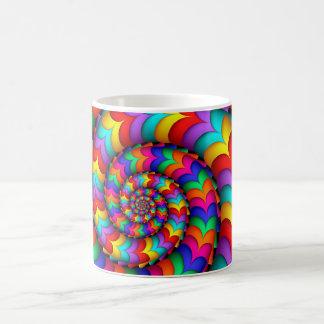 Curly Coil Rainbow Spiral Mug