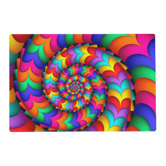 Curly Coil Rainbow Spiral Placemat